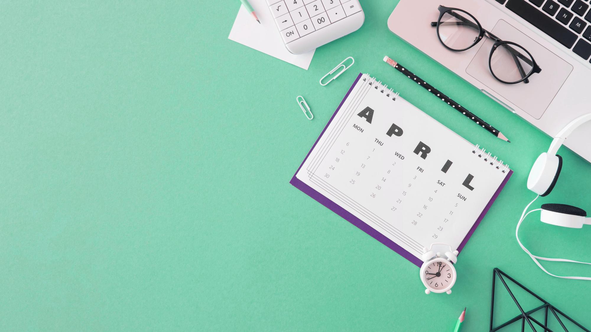 calendario para gestión de tareas